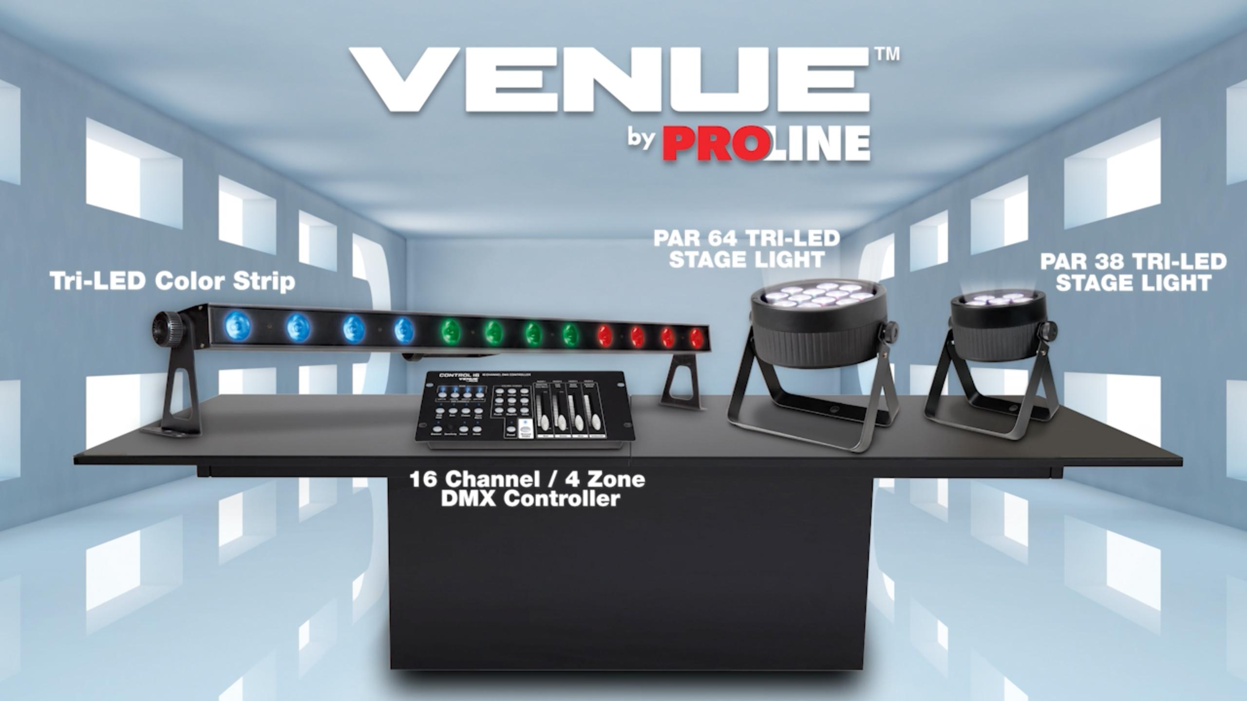 Venue Lighting Effects by Proline